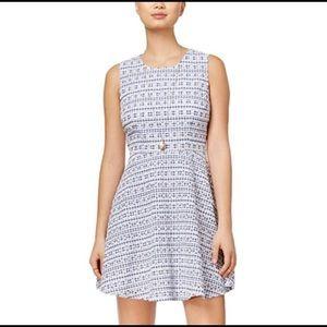Maison Jules Blue Eyelet Dress